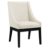 Tide Upholstery Side Chair - Wood Legs, Beige