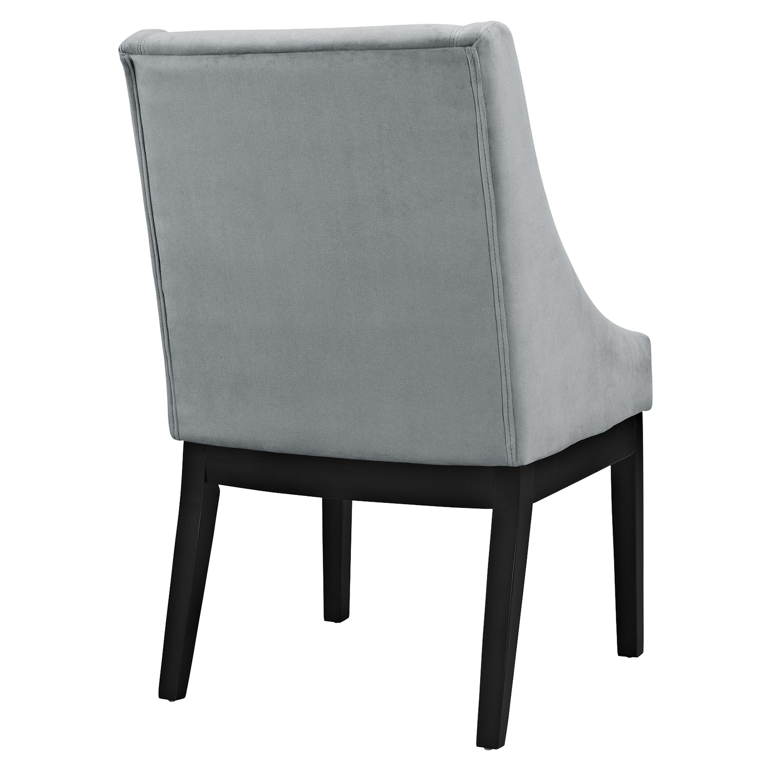 Tide Upholstery Side Chair - Wood Legs, Gray - EEI-1385-GRY