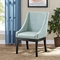 Tide Upholstery Side Chair - Wood Legs, Light Blue - EEI-1385-LBU