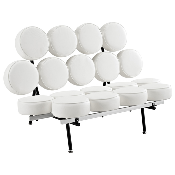 Marshmallow Sofa by Nelson - White