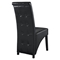 Preside Dining Memory Foam Side Chair - Button Tufted, Black - EEI-1406-BLK