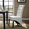 Preside Dining Memory Foam Side Chair - Button Tufted, White - EEI-1406-WHI