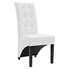 Preside Dining Memory Foam Side Chair - Button Tufted, White