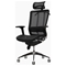 Future Black Office Chair with Headrest - EEI-146-BLK