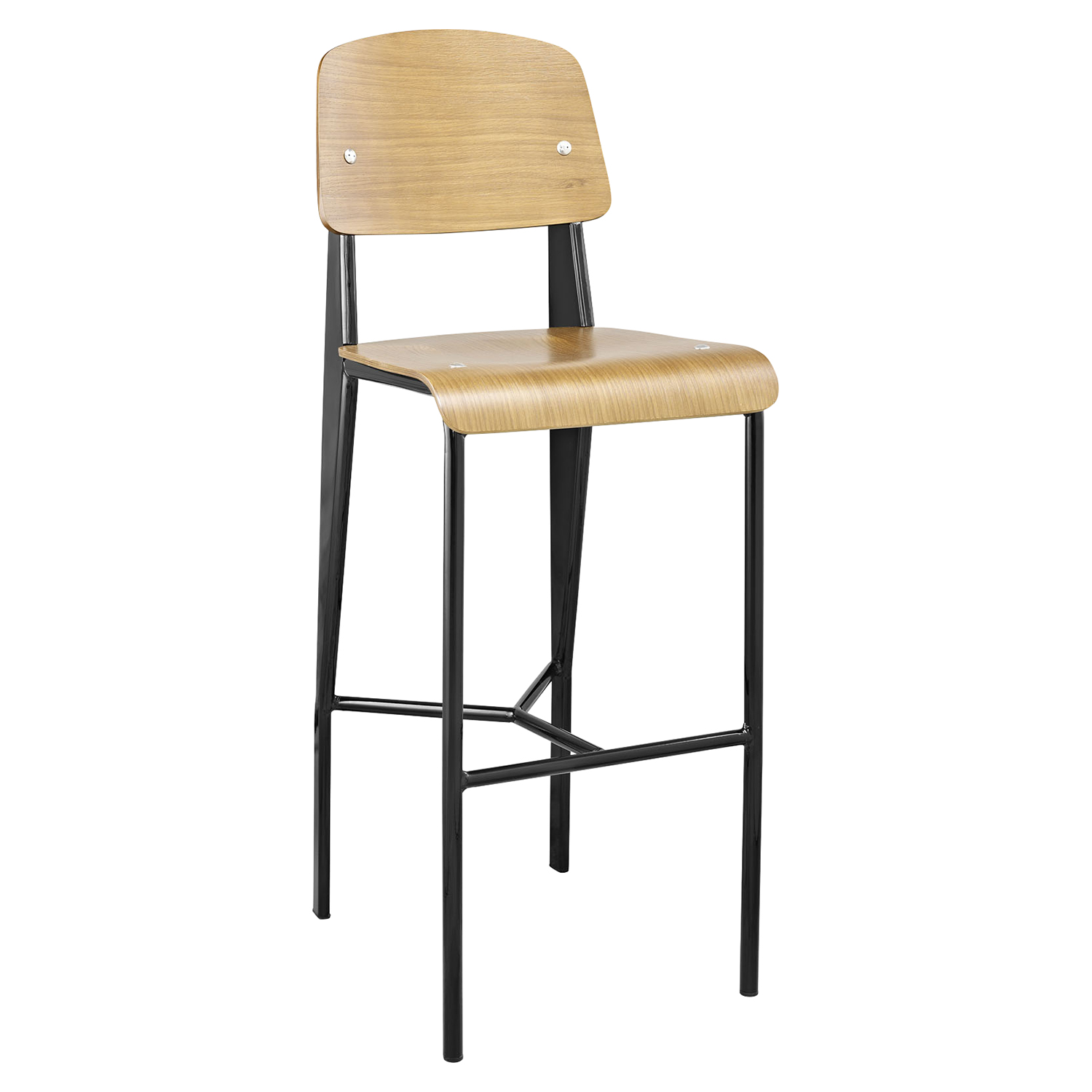 Cabin Armless Bar Stool - Natural, Black