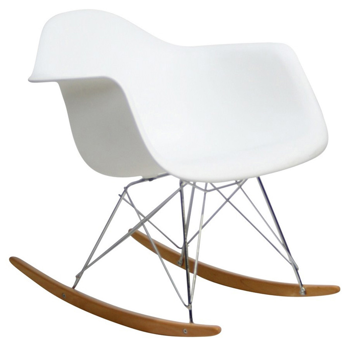 Retro Modern Molded Rocking Chair - EEI-147
