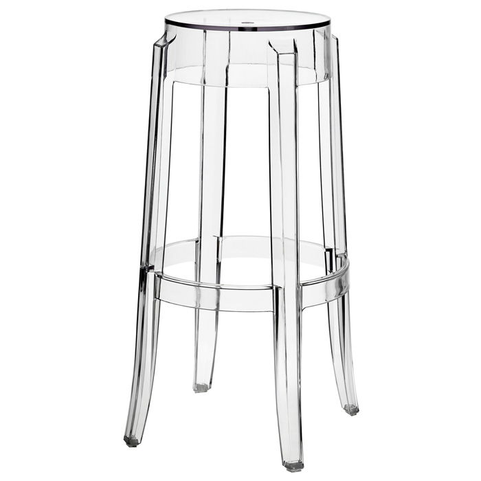 "Casper 30"" Backless Bar Stool - Clear Acrylic - EEI-170-CLR"