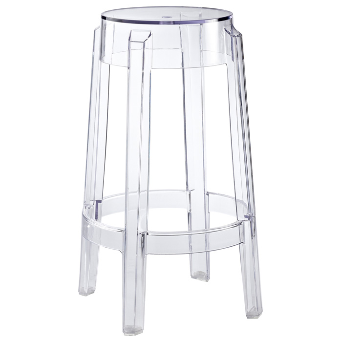 "Casper 26"" Backless Counter Stool - Clear Acrylic"