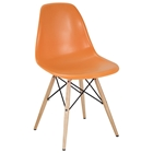 Wood Pyramid Base Side Chair