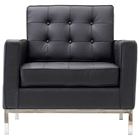Baliette Modern Classic Leather Loft Chair
