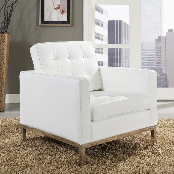Baliette Modern Classic Leather Loft Chair - EEI-183