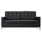 Baliette Modern Classic Leather Loft Loveseat - EEI-185