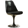 Lippa Saarinen Inspired Black Side Chair - Black Cushions