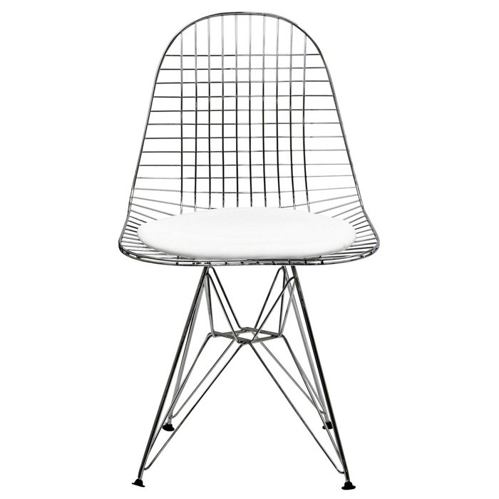 Wire Tower Side Chair with Cushion - EEI-200
