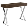 Sector Rectangular Console Table - X Legs, Brown