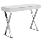 Sector Rectangular Console Table - X Legs, White