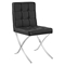 Trieste Memory Foam Dining Chair - Button Tufted, Black - EEI-2072-BLK