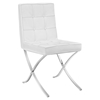 Trieste Memory Foam Dining Chair - Button Tufted, White