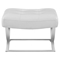 Slope Leatherette Ottoman - Tufted, White - EEI-2078-WHI