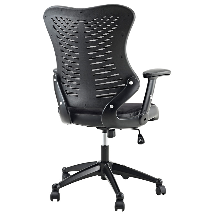 Clutch Office Chair - Adjustable Height, Casters, Black - EEI-209-BLK
