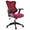 Clutch Office Chair - Adjustable Height, Casters, Burgundy