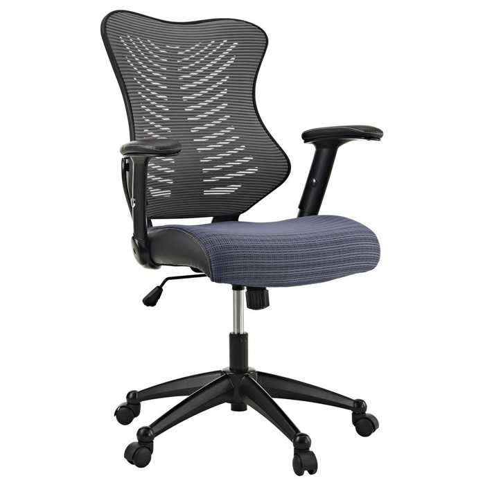 Clutch Office Chair - Adjustable Height, Casters, Gray