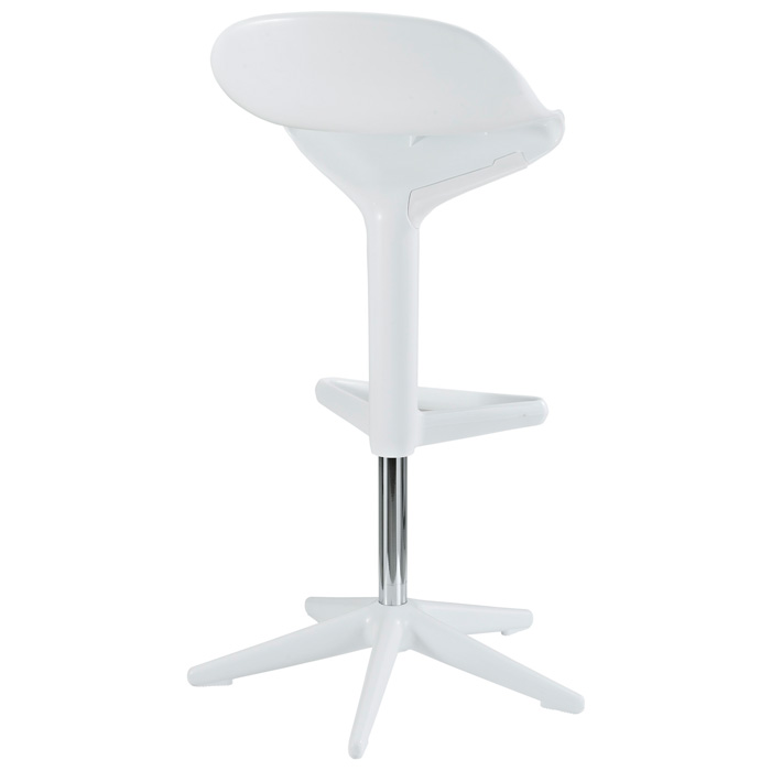 Flare Adjustable Swivel Plastic Bar Stool - White - EEI-218-WHI