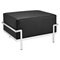 Charles Grande Leather Ottoman - Black - EEI-251-BLK