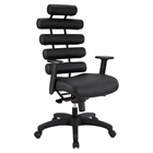 Pillow Faux Leather Office Chair - Height Adjustable, Black