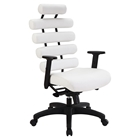 Pillow Faux Leather Office Chair - Height Adjustable, White
