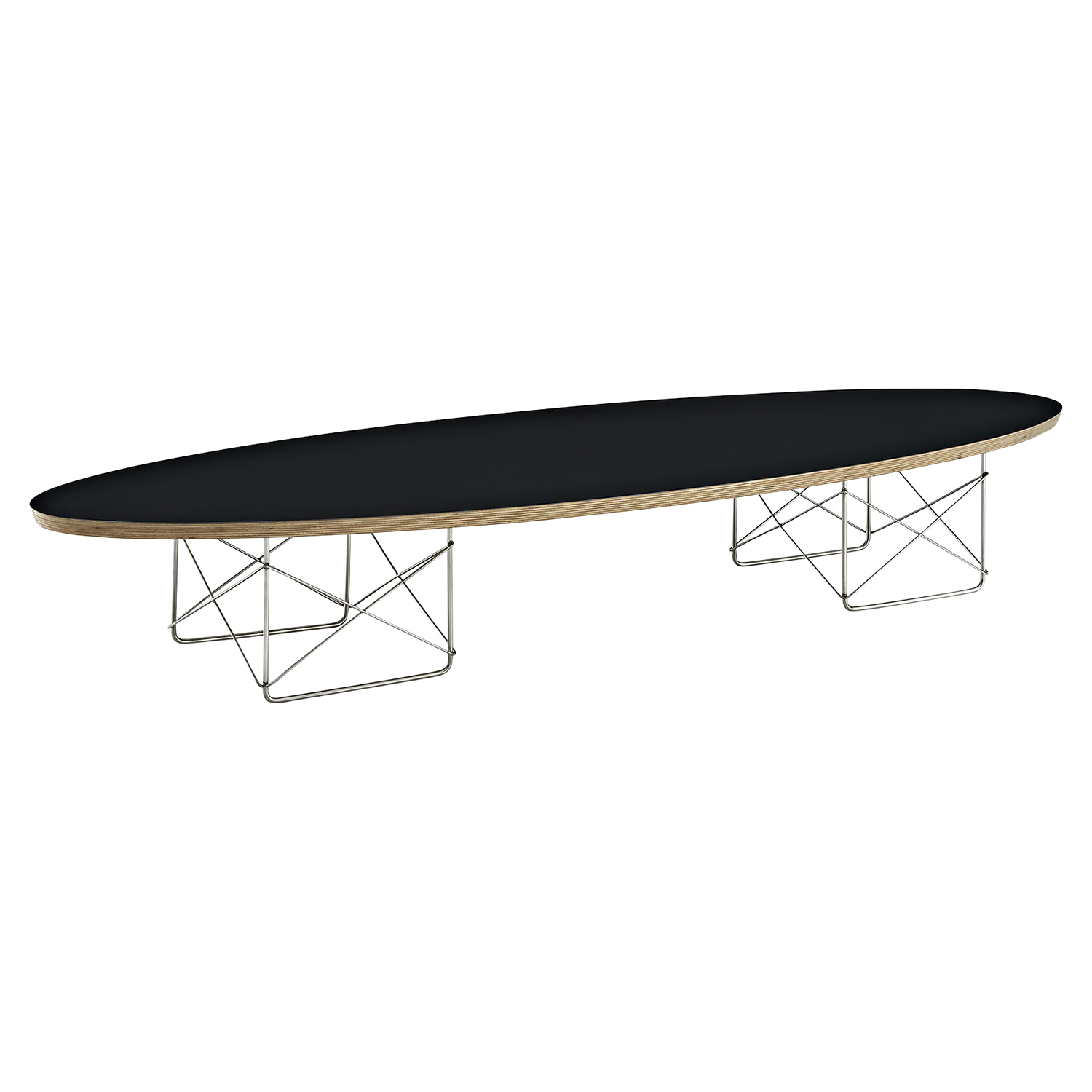 Surfboard Oval Coffee Table - Black
