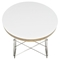 Surfboard Oval Coffee Table - White - EEI-302-WHI