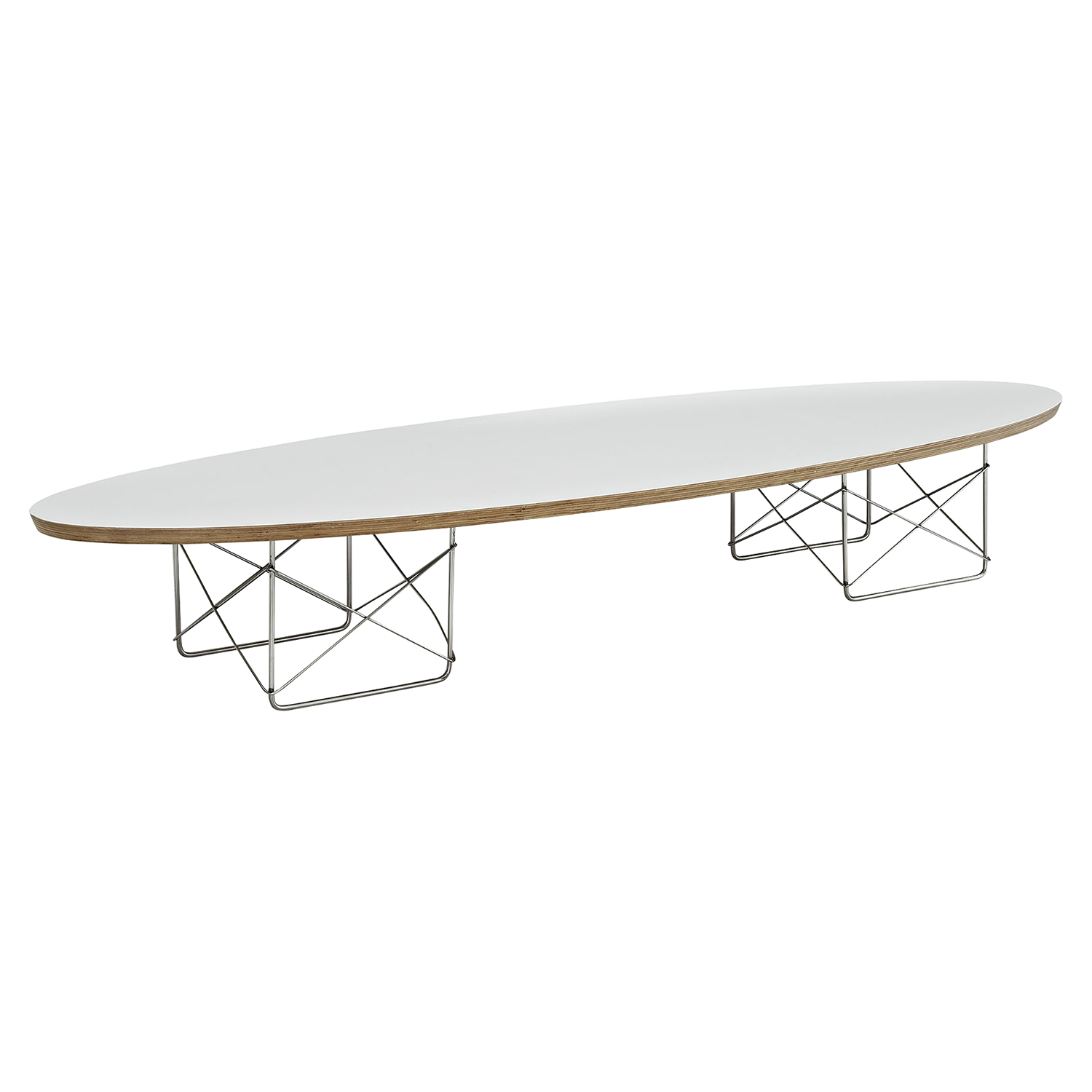 Surfboard Oval Coffee Table - White