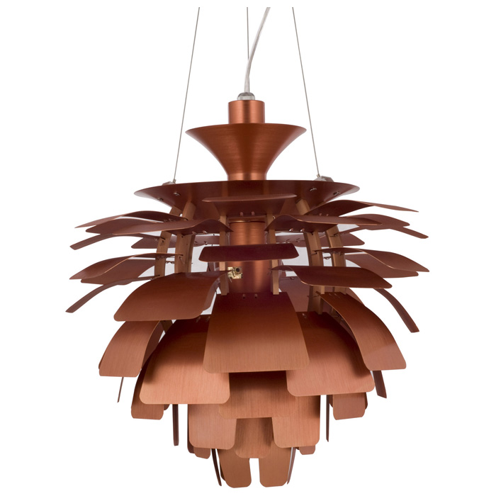 "Petal 28"" Contemporary Ceiling Light - Aluminum"