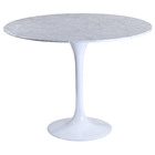 "Lippa Saarinen Inspired 40"" Round Marble Top Dining Table"