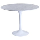 Lippa Saarinen Inspired 36 Inch Round Marble Top Dining Table