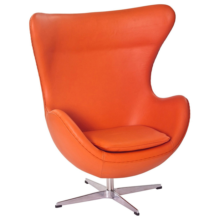 Arne Jacobsen Leather Egg Chair