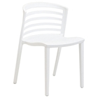 Curvy Stackable White Plastic Chair