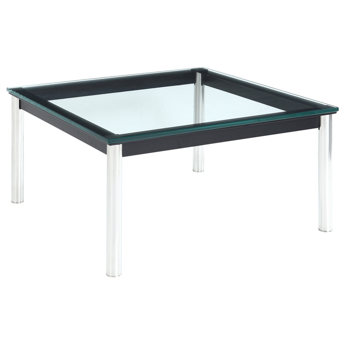 LC10 Square Glass Top End Table