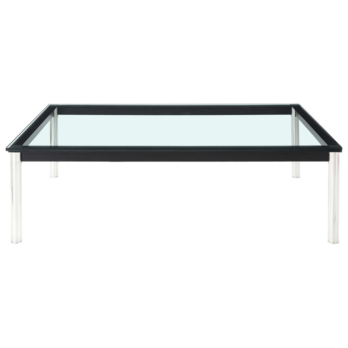 LC10 Rectangle Glass Top Coffee Table - EEI-573-BLK