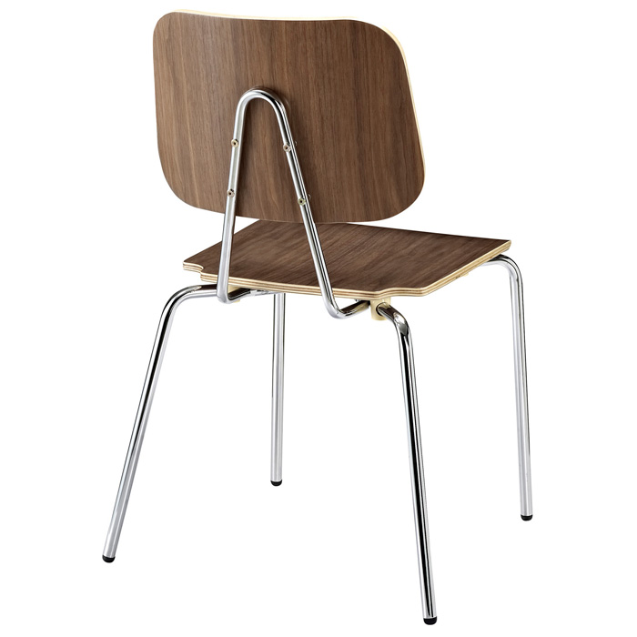 Molded Plywood Dining Chair with Metal Legs - EEI-576