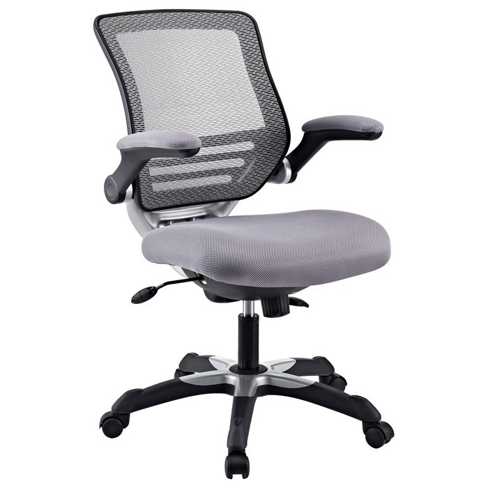 Edge Mesh Back Office Chair - Adjustable Height, Gray