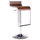 LEM Piston Style Bar Stool with Wood Seat