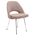 Cordelia Fabric Side Chair with Chrome Legs
