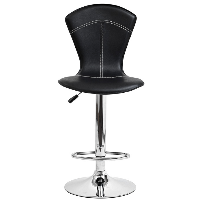 Cobra Adjustable Height Bar Stool - Black - EEI-637-BLK
