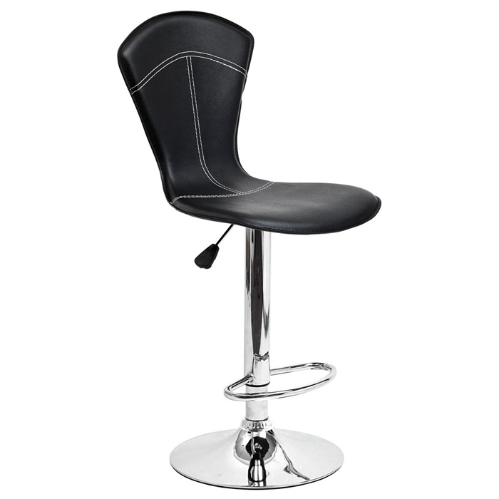 Cobra Adjustable Height Bar Stool - Black