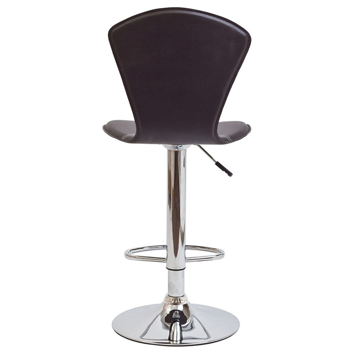 Cobra Adjustable Height Bar Stool - Brown - EEI-637-BRN