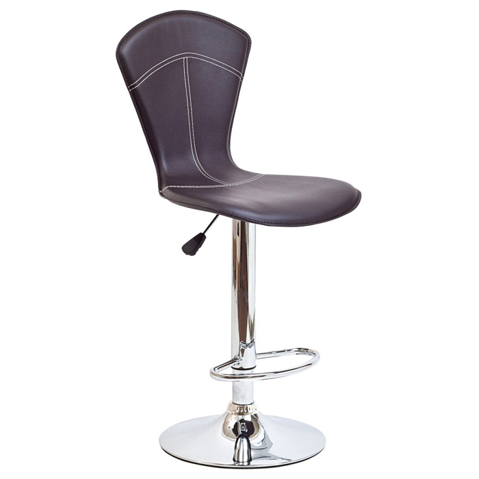 Cobra Adjustable Height Bar Stool - Brown