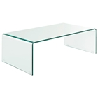 Transparent Bent Glass Coffee Table