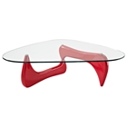 Triangle Glass Top Coffee Table